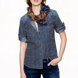 J. Crew keeper chambray shirt in Star dot print